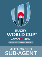 Rugby World Cup 2019 logo - Authorised Sub-Agent